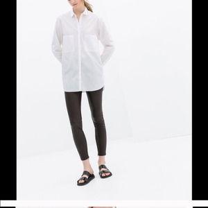 Zara leather leggings/pants