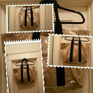 Handbags - Large gold dusted tote