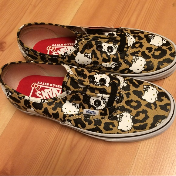 53% off Vans Shoes - RARE Hello Kitty leopard Vans Authentic ...