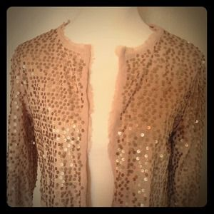 Sequined cropped blazer!