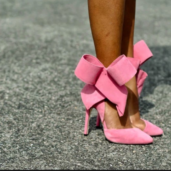 37% off Shoes - Aminah Abdul Jillil Pink Bow Pumps *sale today ...