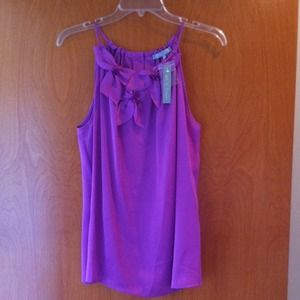 Tops - Sleeveless silk violet/purple top. Sold