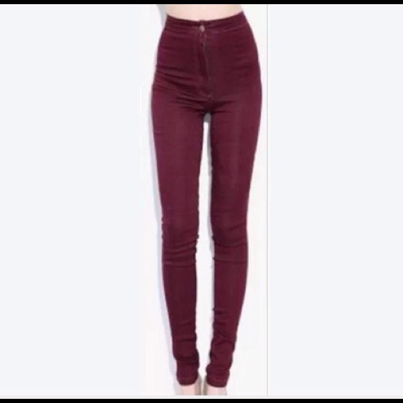 35% off Pants - Dark Red High Waisted Skinny Jeans from Lisa's ...