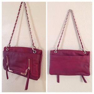 Handbags - New Maroon Faux Leather Chain Handbag
