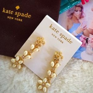 HOST PICKKate Spade flower drop earrings