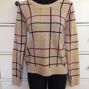 NWOT geometric beige sweater