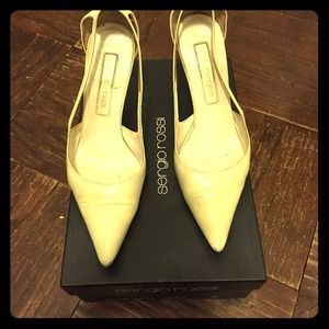 Sergio Rossi beige pumps size 6 with box