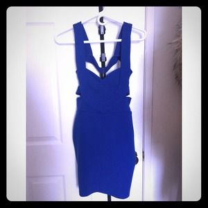 Dresses & Skirts - Cobalt blue caged dress