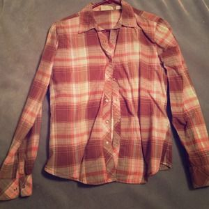Pearl snap plaid top