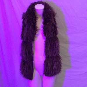 Zara brown faux fur vest