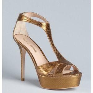 Pour la Victoire Gold Strap Shoes