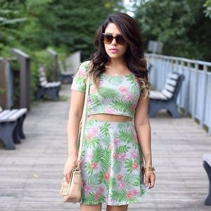 H&M Dresses & Skirts - Tropical Print Matching Set