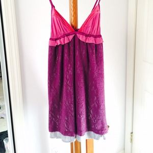 NWT Free People Crochet Overlay Babydoll Dress 4