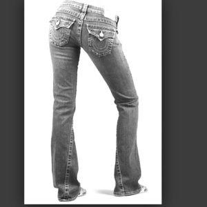 True Religion black Joey jeans