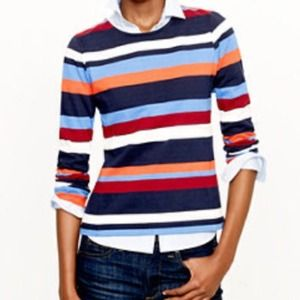 J.crew Stripe Top with Back Zipper