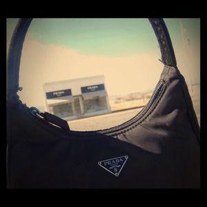 PRADA Black Tessuto handbag