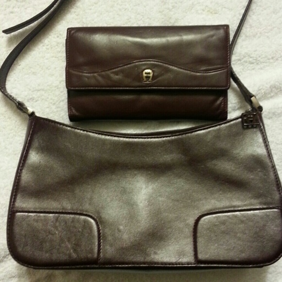 dd97beee6fb Etienne Aigner Bags   Brown Leather Bag Wlarge Wallet   Poshmark
