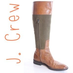 J.Crew leather & canvas riding boot