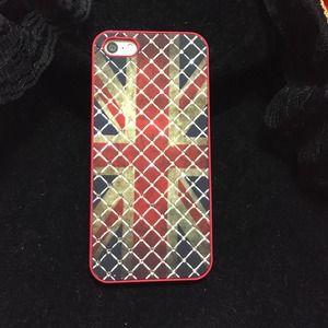 Accessories - Rhinestone UK Flag iPhone 5S case