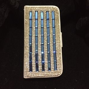 Accessories - Blue & White Rhinestone  iPhone 5s cover