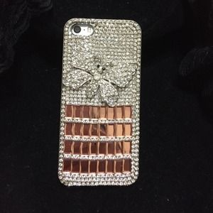 Accessories - Rhinestone Rose Gold iPhone 5S cover