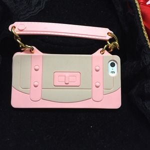 Accessories - Pink Little Silicone Purse iPhone 5S