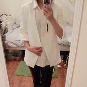 Zara classic white blazer