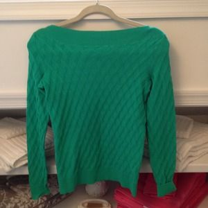 Lilly Pulitzer Sweaters - Green boat neck sweater