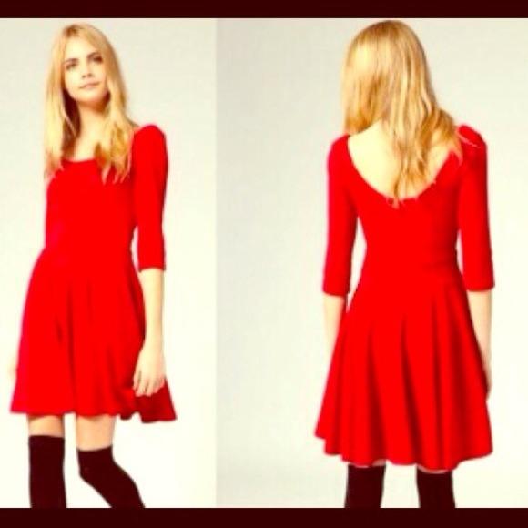 HM Red Dress