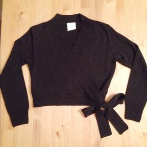 add171d70ed49 Eurotard Sweaters | Black Ballet Wrap Cardigan | Poshmark