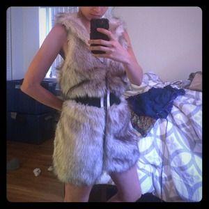 Amazing faux fur vest