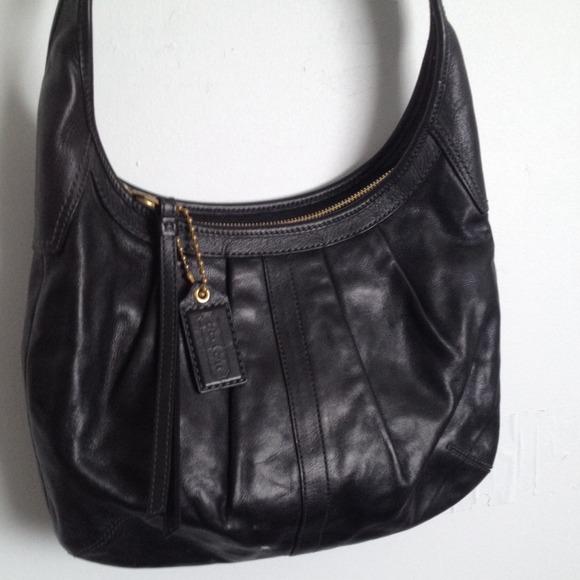 04c107317 ... cheapest coach ergo pleated black leather bag 56e70 2a8d9