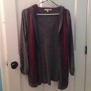 Long grey sweater cardigan