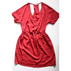 Lush Dresses & Skirts - Dark red dress with cut-outs