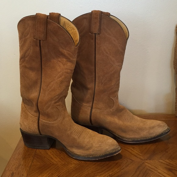 a1fda7c9d8f Tony Lama suede embroidered cowboy boot