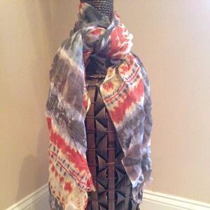 Tye Dye look scarf