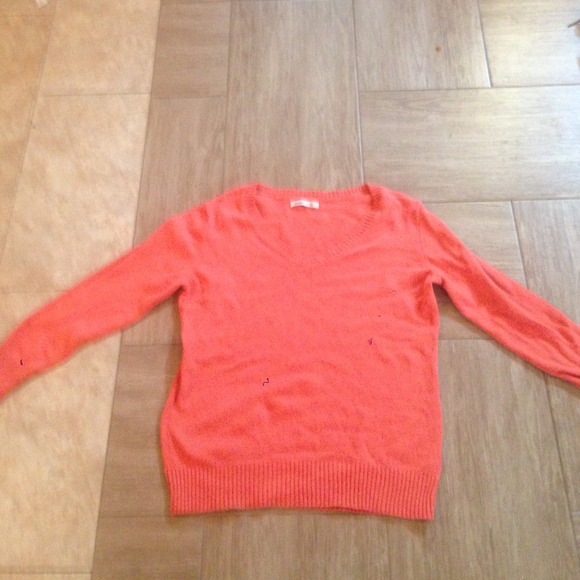 80% off Old Navy Tops - Orange Old Navy V Neck Sweater from ...