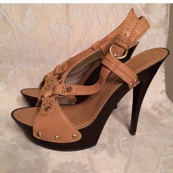 3ee2585a6a1 Jessica Simpson Shoes - Jessica Simpson Strappy wooden heels