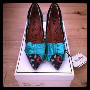 Lanvin for H&M Shoes - Lanvin ❤️H&M Green Floral Pumps-SEXY!!!
