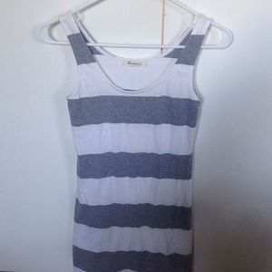 Forever 21 Grey/White Striped Dress, size S