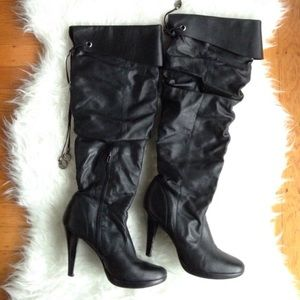 Black Slouch Boot