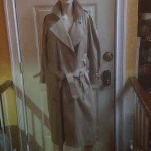 Jones New York wool beige trench coat