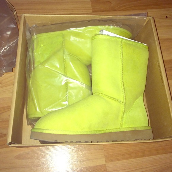light green uggs