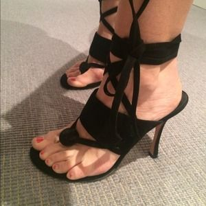 Manolo Blahnik Shoes - Manolo Blahnik black strappy sandals.