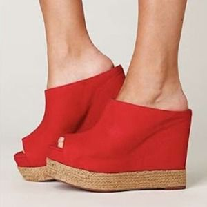 Jeffrey Campbell Shoes - Jeffrey Campbell red wedges