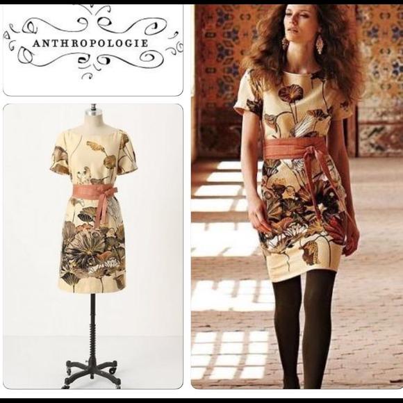 09c25b737d154 Anthropologie Dresses & Skirts - Anthropologie Floreat Snowy Egret Dress ...