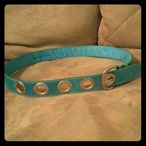 Genuine Leather, Turquoise Belt NWOT