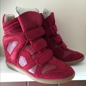 NWT Isabel Marant Bekett Wedge Sneakers