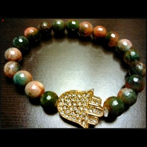 Beaded custom stone bracelet