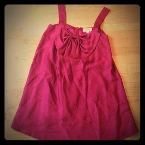 Jill Stuart red silk holiday dress